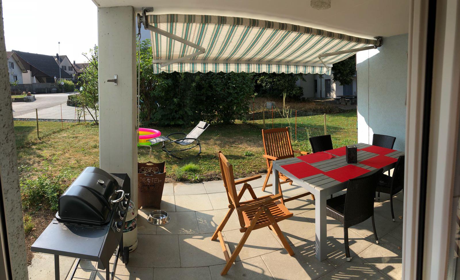 Boniswil, 3.5 Zimmer Gartenwohnung
