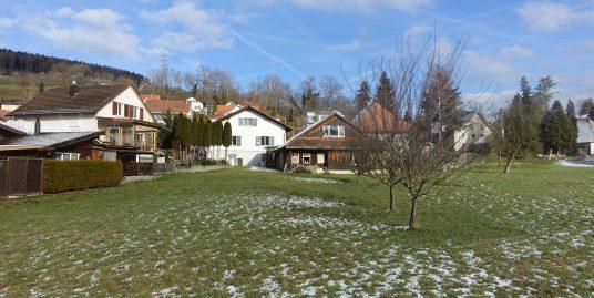 Reinach, Bauland mit Mehrfamilienhaus