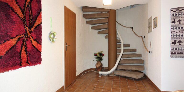 Eingangsbereich Wendeltreppe