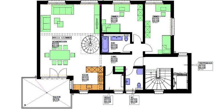 Grundriss Haus 2 Attika a