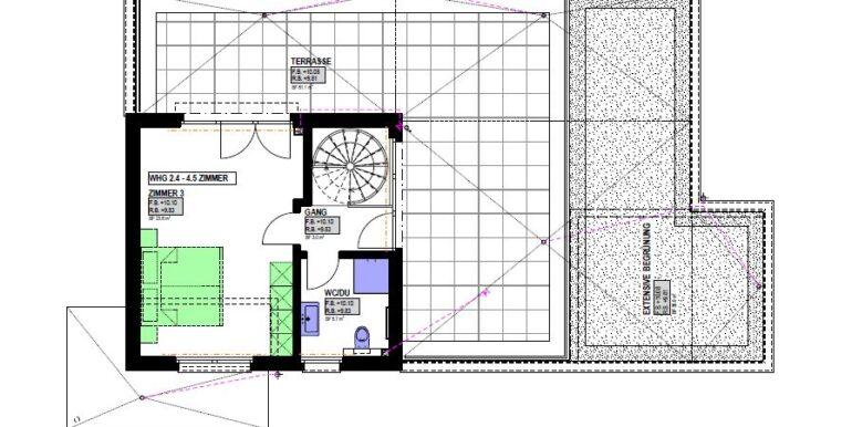 Grundriss Haus 2 Attika b
